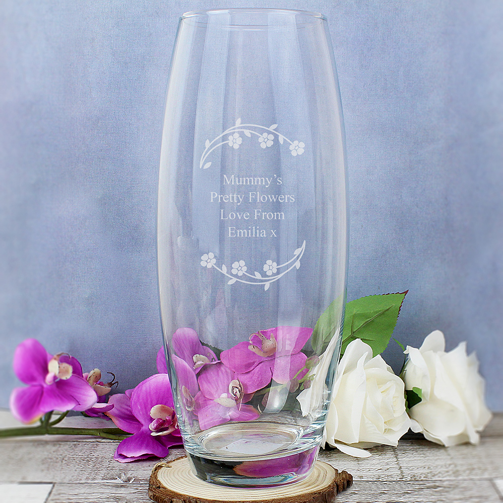 Picture of Personalised Floral Bullet Vase