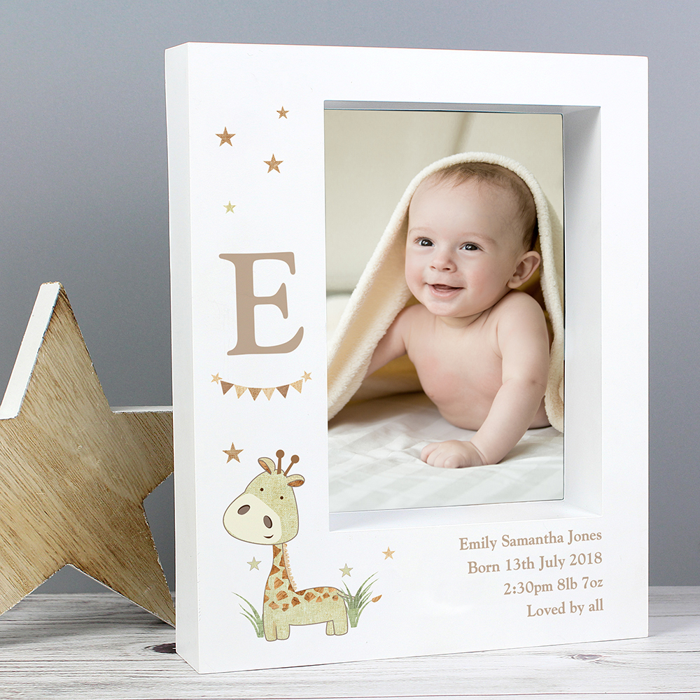 Picture of Personalised Hessian Giraffe 5x7