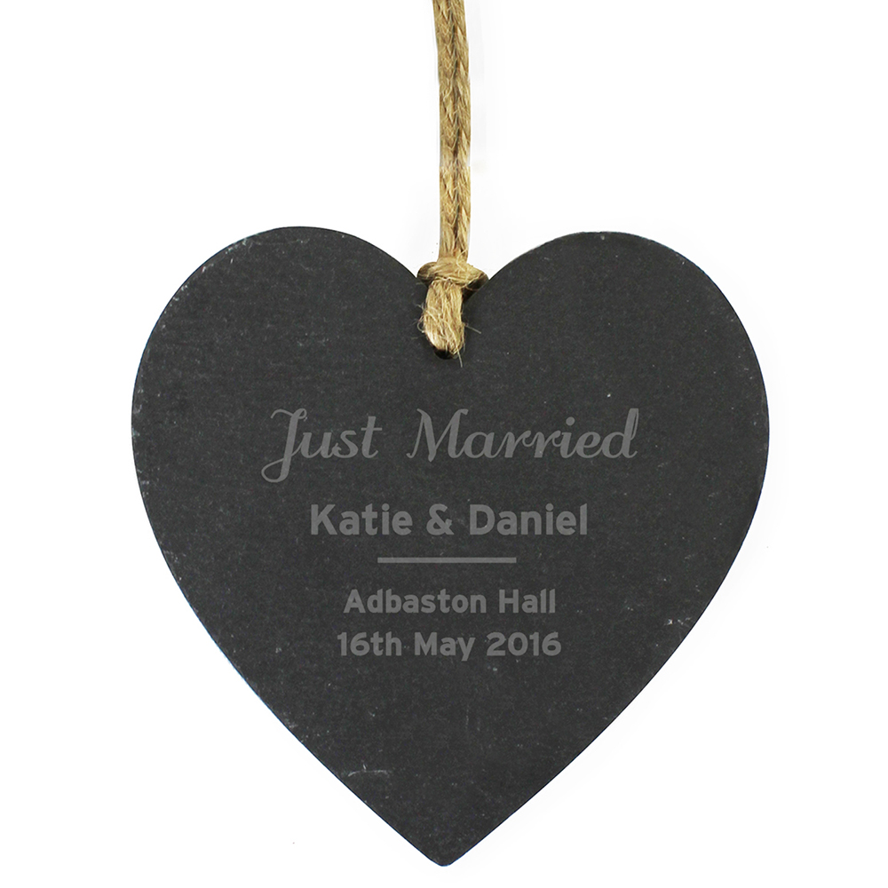 Picture of Personalised Slate Heart Decoration