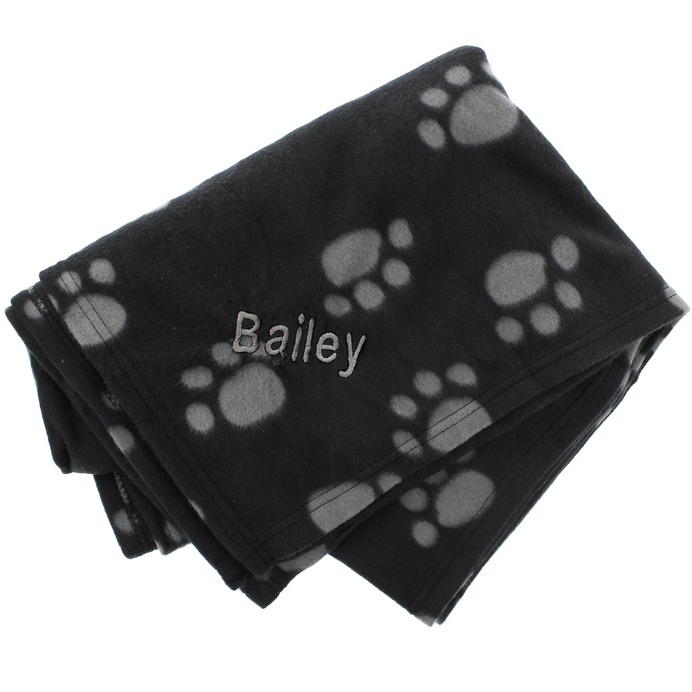 Picture of Personalised Dog Paw Print Fleece Blanket