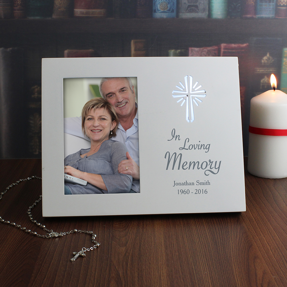 Picture of Personalised Cross Loving Memory Light Up Frame (4x6)
