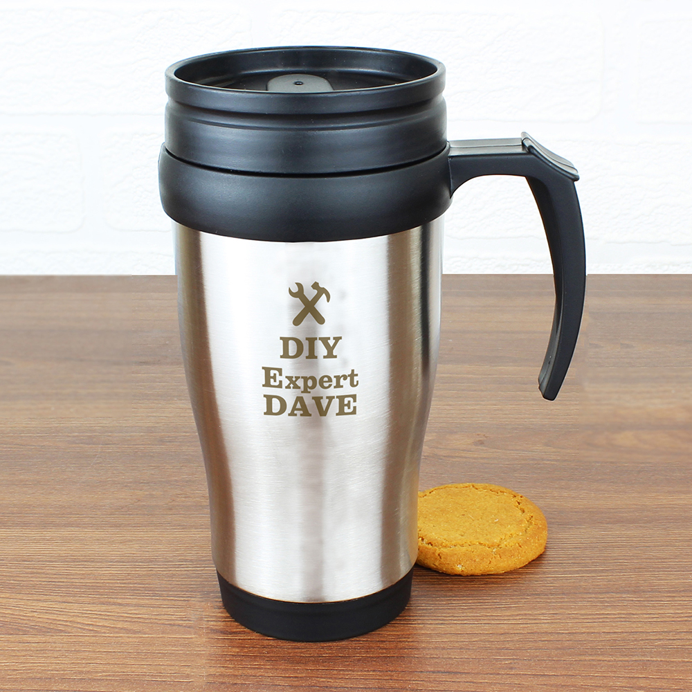 Picture of Personalised Man At Work Travel Mug