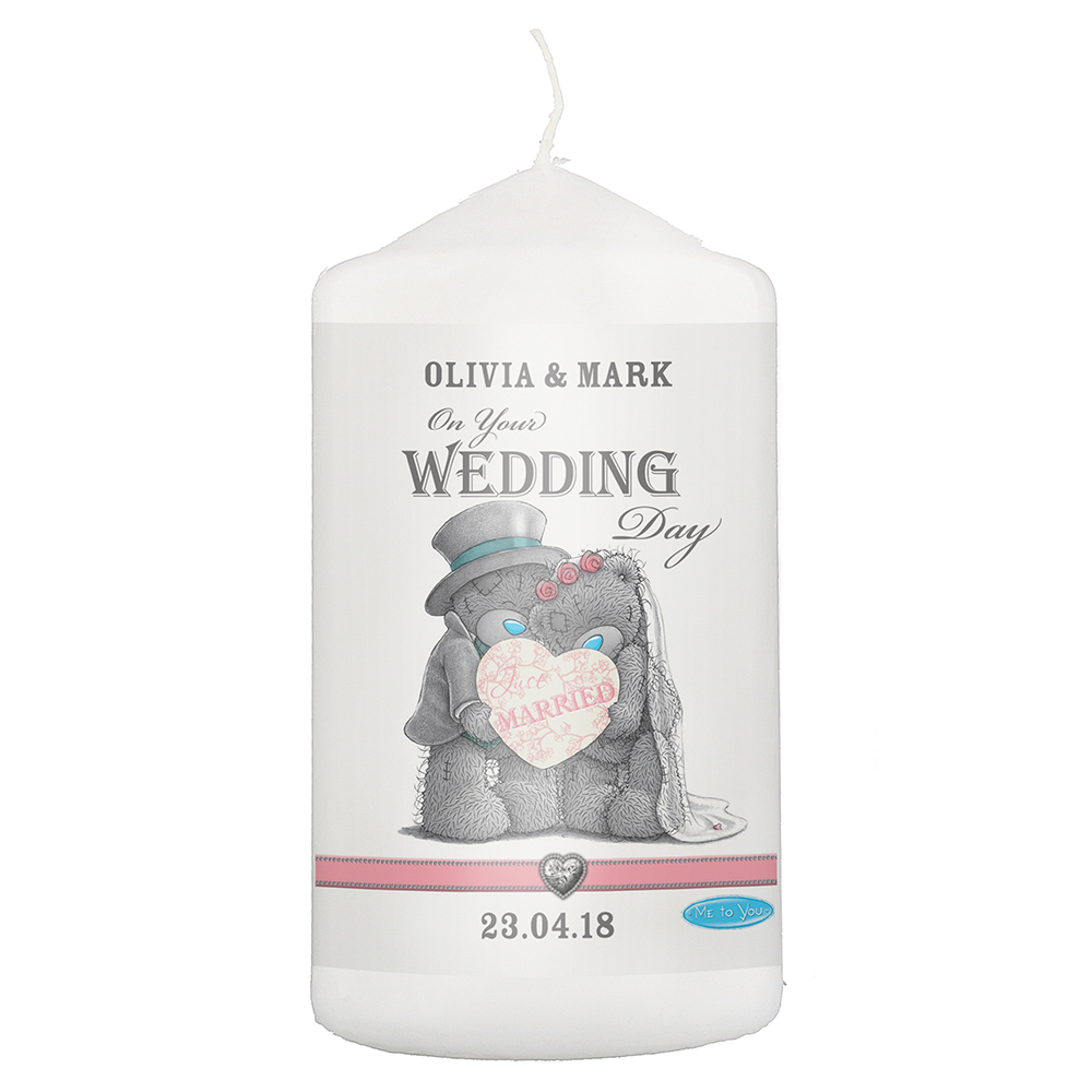 Picture of Personalised Me To You Wedding Candle