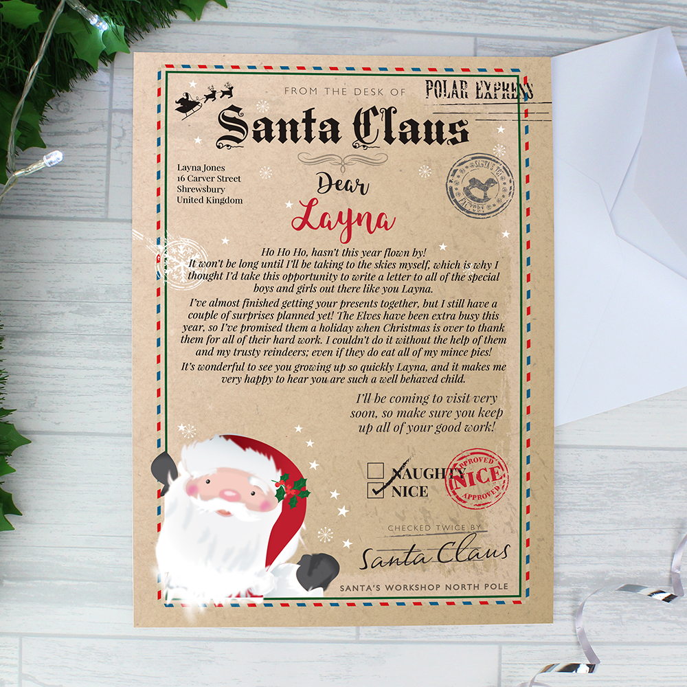 Picture of Personalised Santa Claus Letter