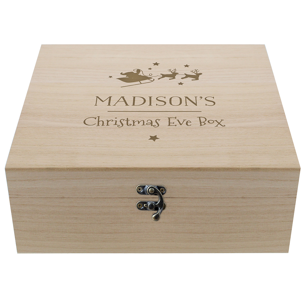 Picture of Personalised Large Wooden Christmas Eve Box