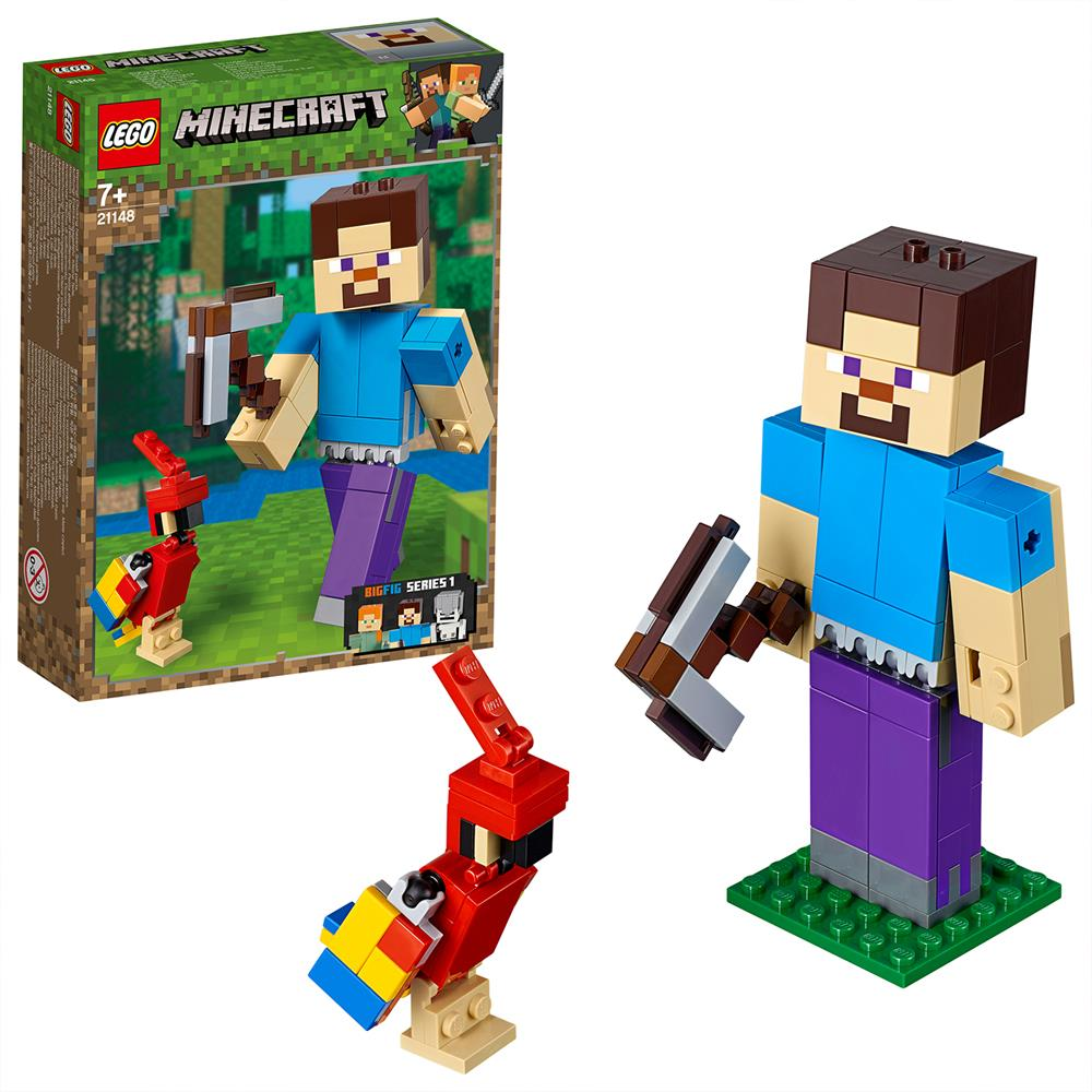 Picture of LEGO Minecraft™ Steve BigFig with Parrot 21148