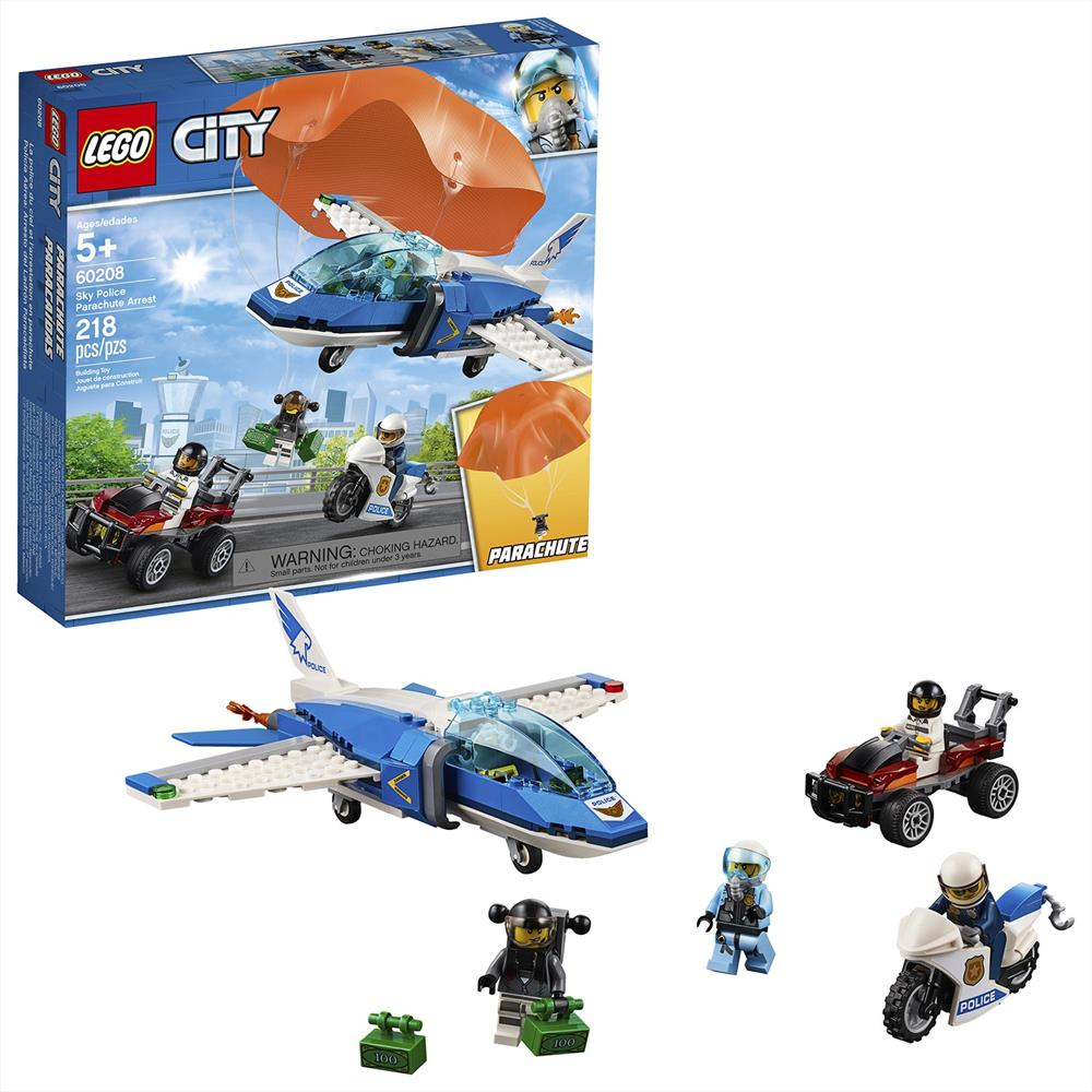 Picture of LEGO City Police Sky Police Parachute Arrest 60208