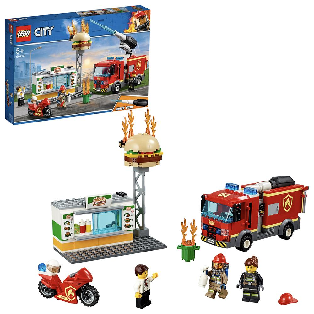 Picture of LEGO City Fire Burger Bar Fire Rescue 60214