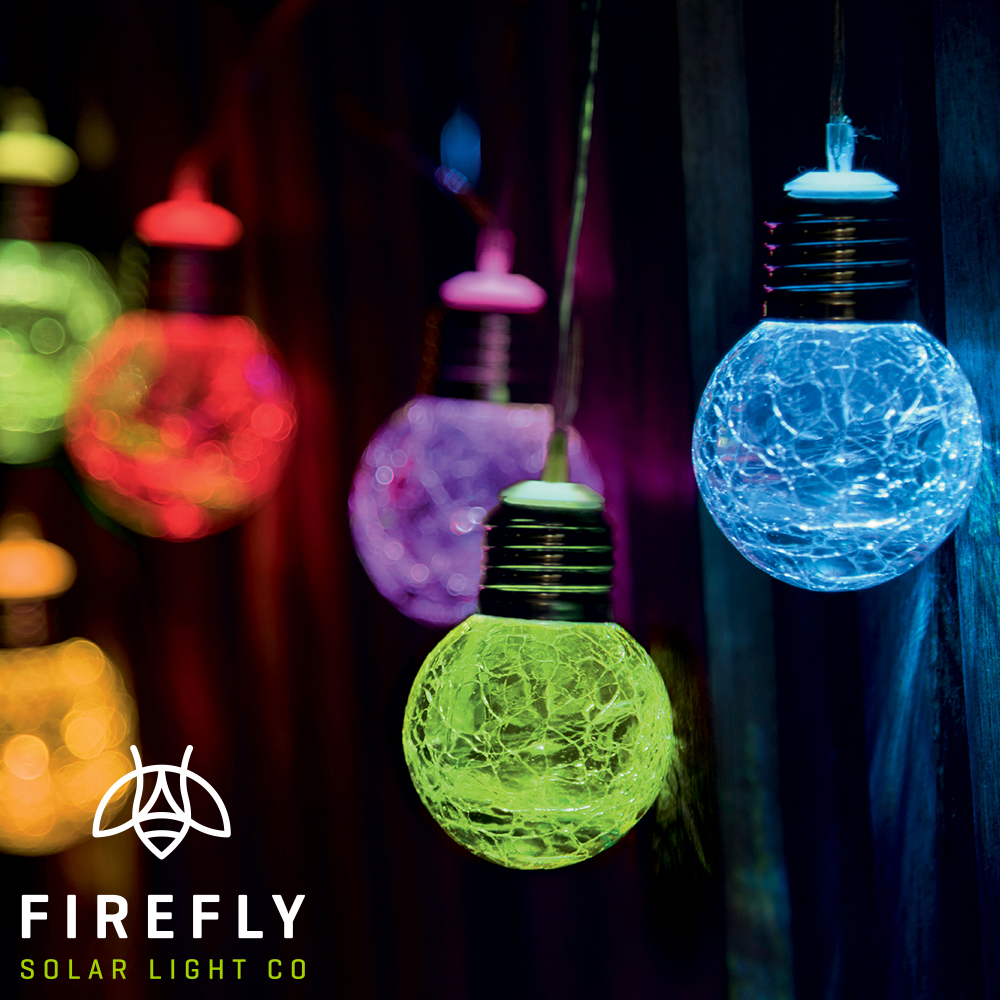 Picture of Firefly: 10 Glass Orb LED String Solar Lights