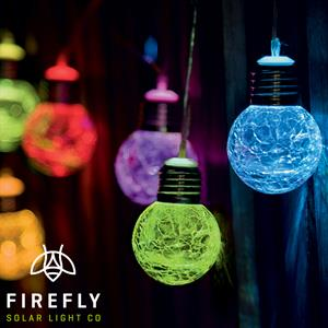 Picture of Firefly: 10 Glass Orb LED String Lights