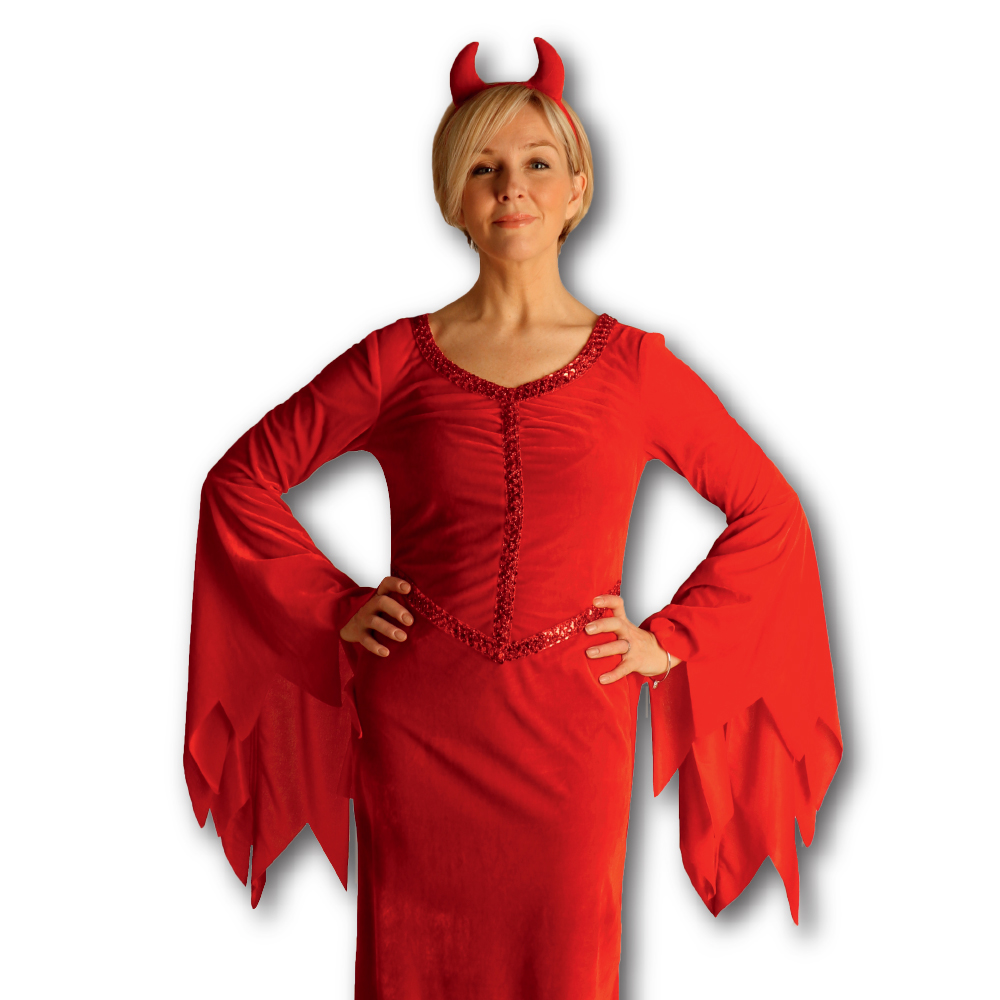 Picture of Hallow-Scream Ladies Devil Dress and Hairband