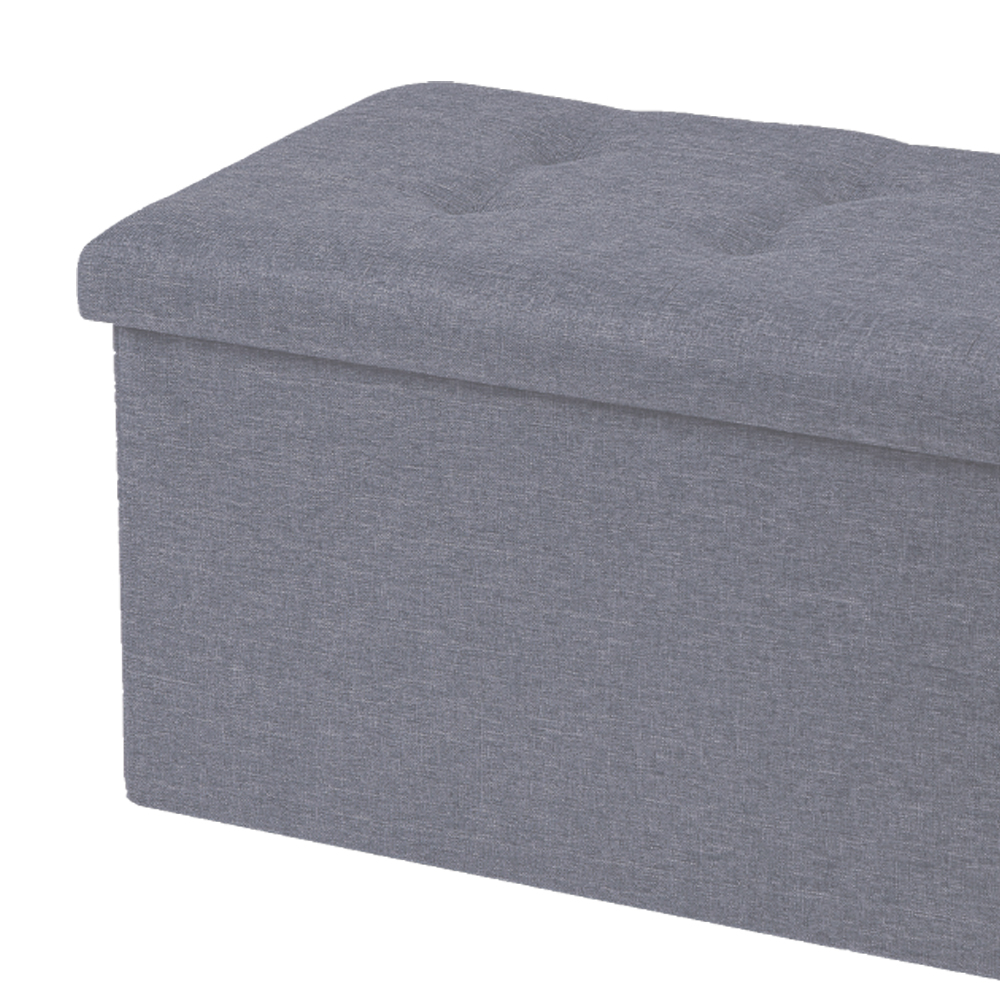Picture of House & Home Large Foldable Poly Linen Ottoman