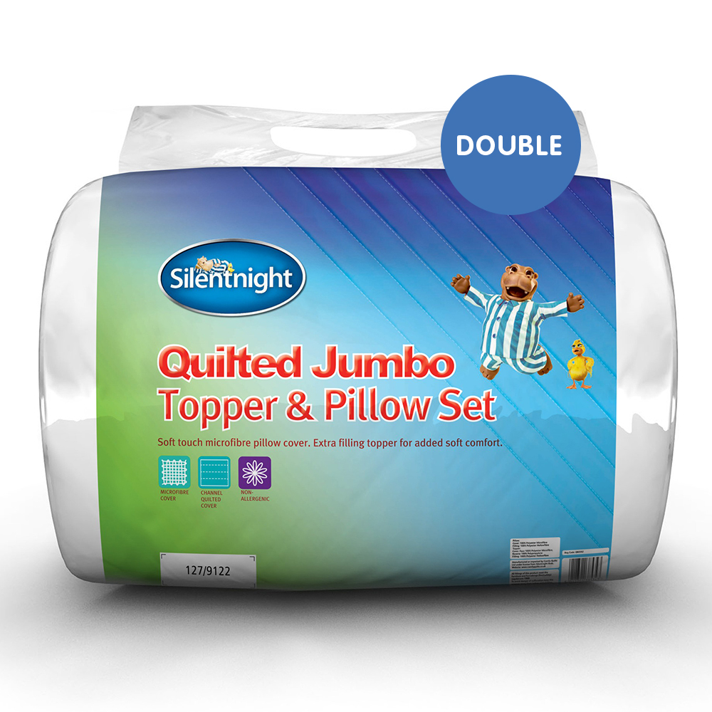 Picture of Silentnight Quilted Jumbo Topper & Pillow Set