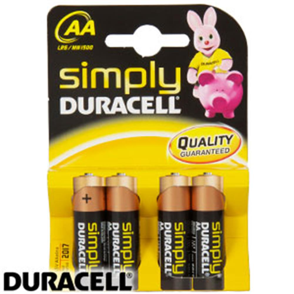 Picture of Duracell Simply AA Batteries: (4 Pack)