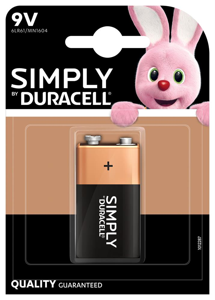 Picture of Duracell Simply 9V Battery