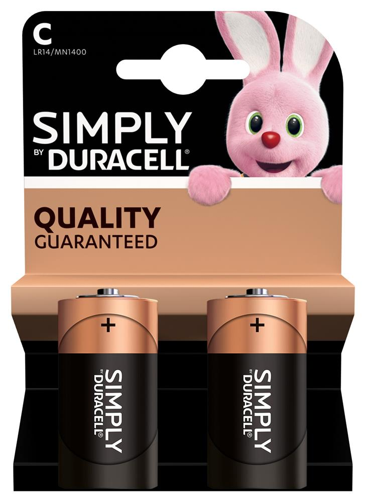 Picture of Duracell Simply C Batteries (2 Pack)