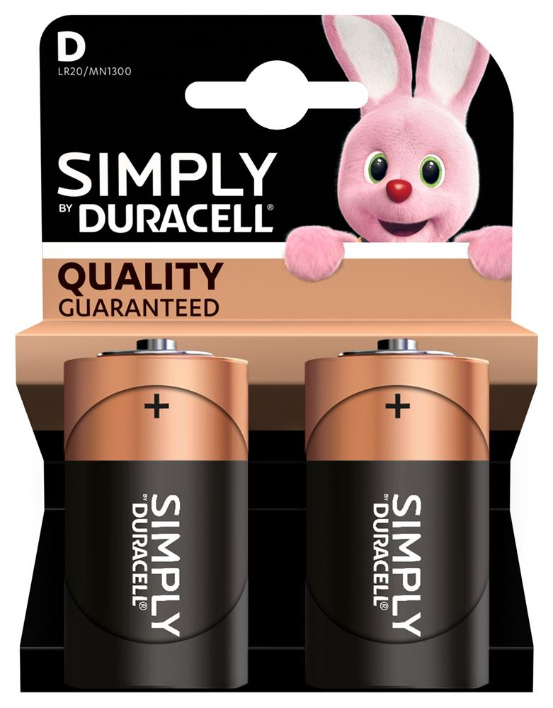 Picture of Duracell Simply D Batteries (2 Pack)