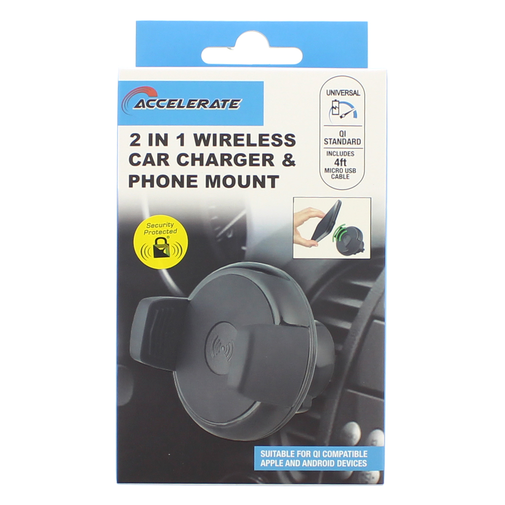 Picture of Accelerate 2in1 Wireless Car Phone Charger & Mount