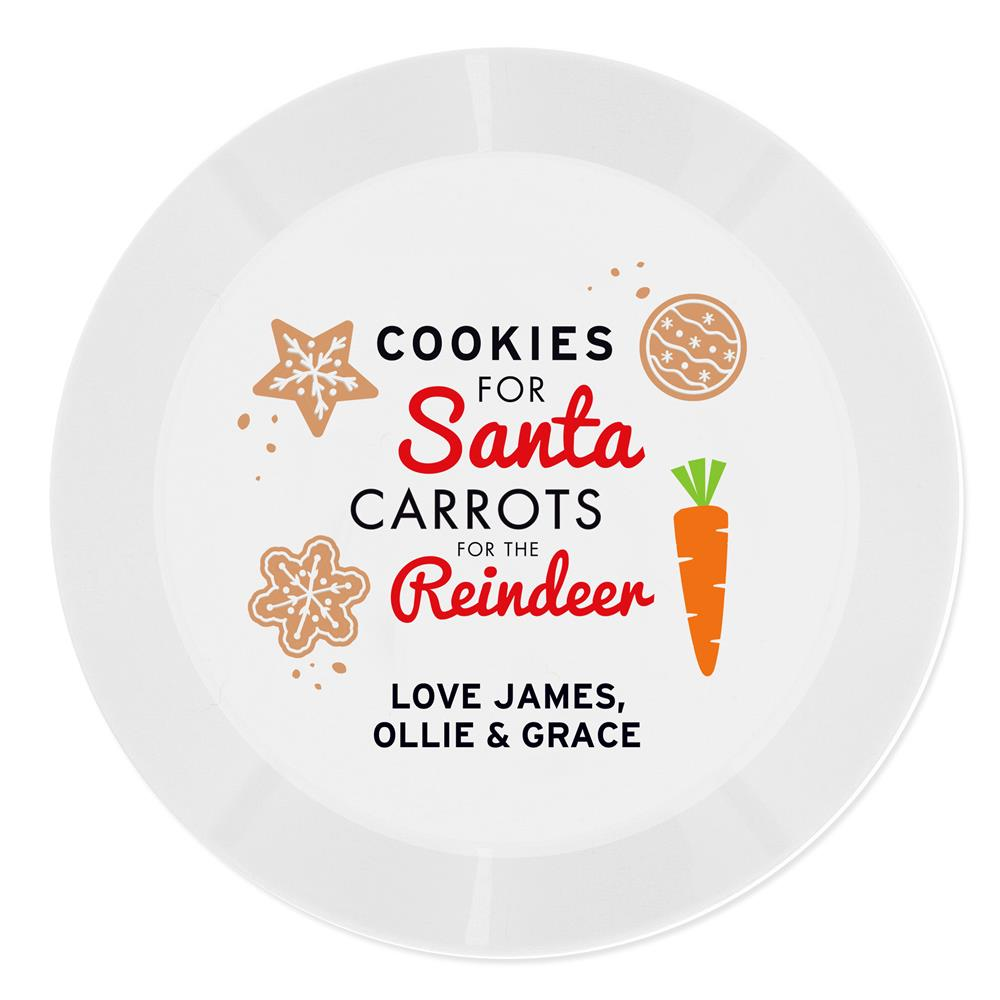 Picture of Personalised Cookies for Santa Christmas Eve Plate