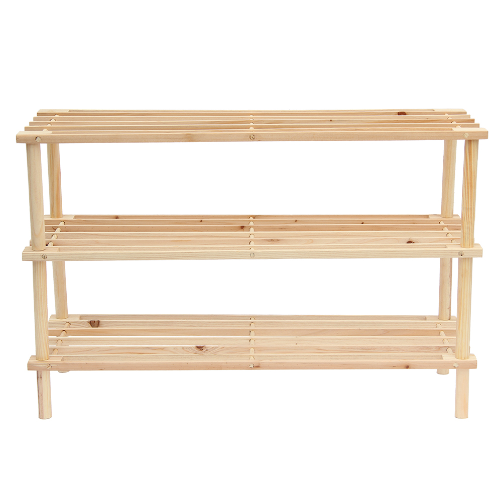 Picture of Free Standing 3 Tier Wooden Shoe Rack