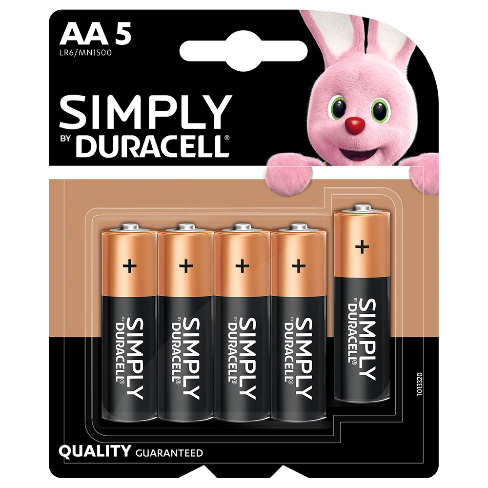 Picture of Duracell Simply AA Batteries (5 Pack)