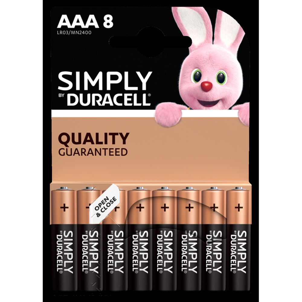 Picture of Duracell Simply AAA Batteries (8 Pack)
