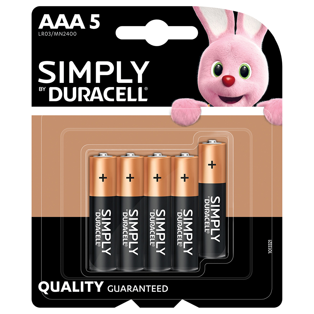 Picture of Duracell Simply AAA Batteries (5 Pack)