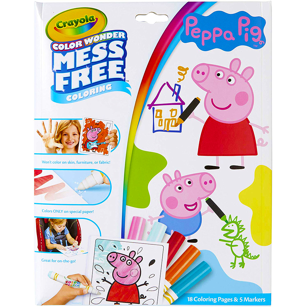 Picture of Crayola Colour Wonder Mess Free Colouring: Peppa Pig