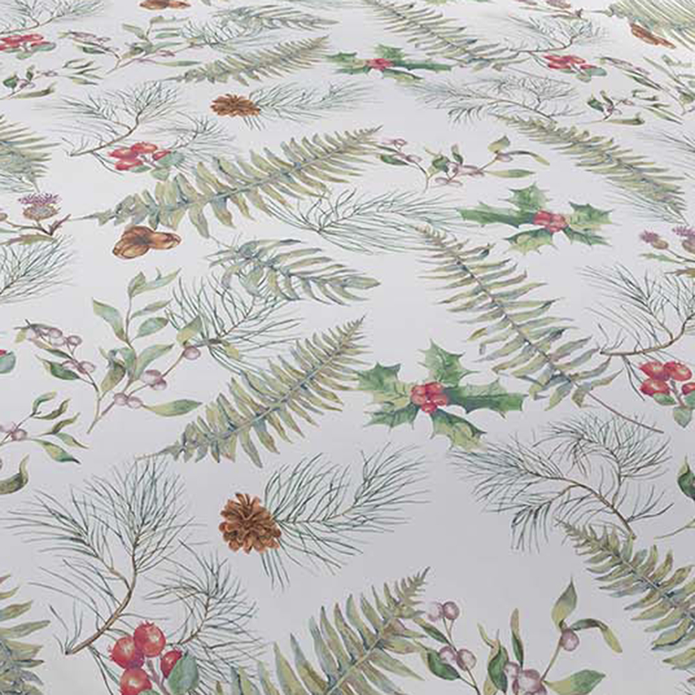 Picture of Christmas Winter Foliage Brushed Cotton Duvet Set