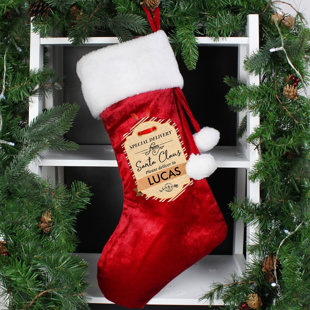 Picture of Personalised Special Delivery Luxury Stocking