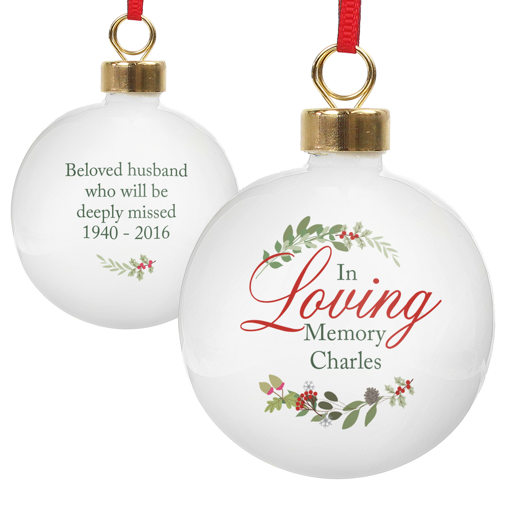 Picture of Personalised In Loving Memory Wreath Bauble
