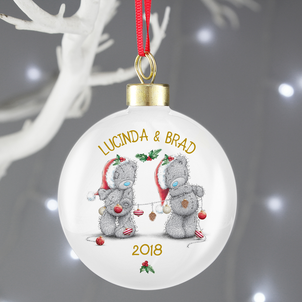Picture of Personalised Me To You Couples Bauble
