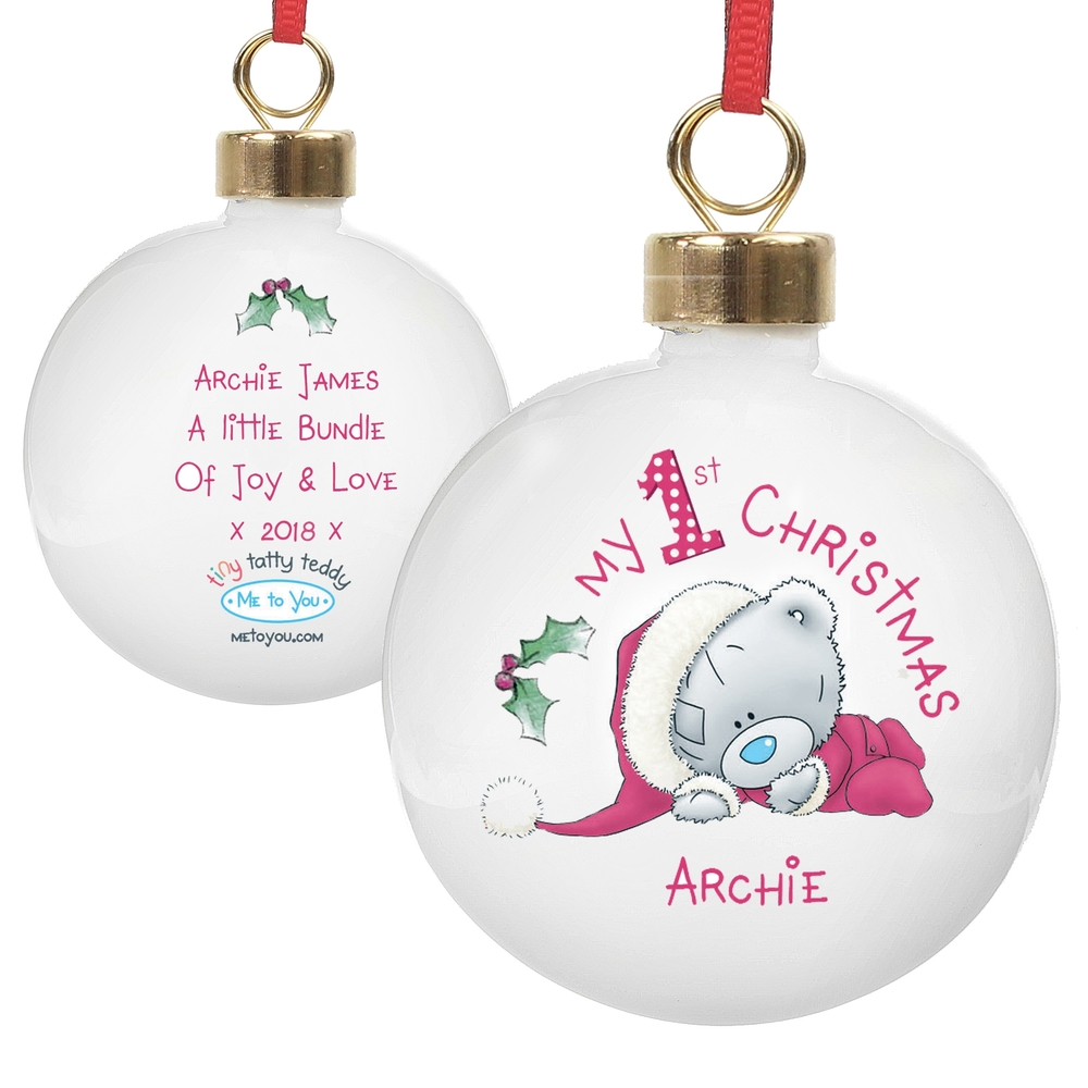 Picture of Personalised Me To You My 1st Christmas Bauble