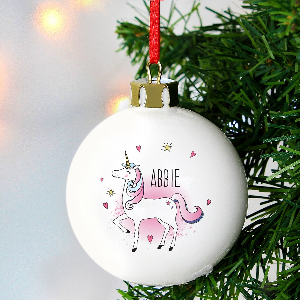 Picture of Personalised Unicorn Bauble