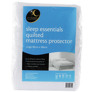 Buy Sleep Essentials Quilted Mattress Protector Double
