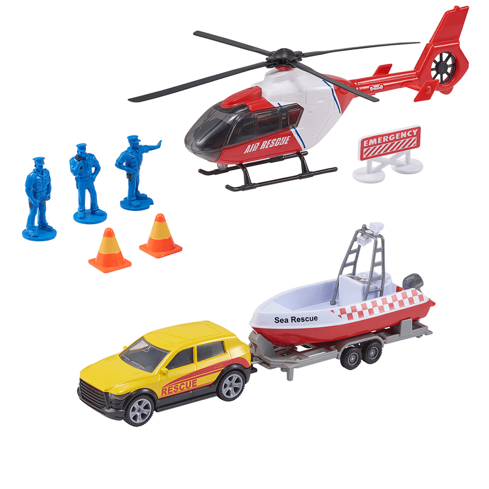 Picture of Teamsterz Air Sea Rescue Vehicle Set