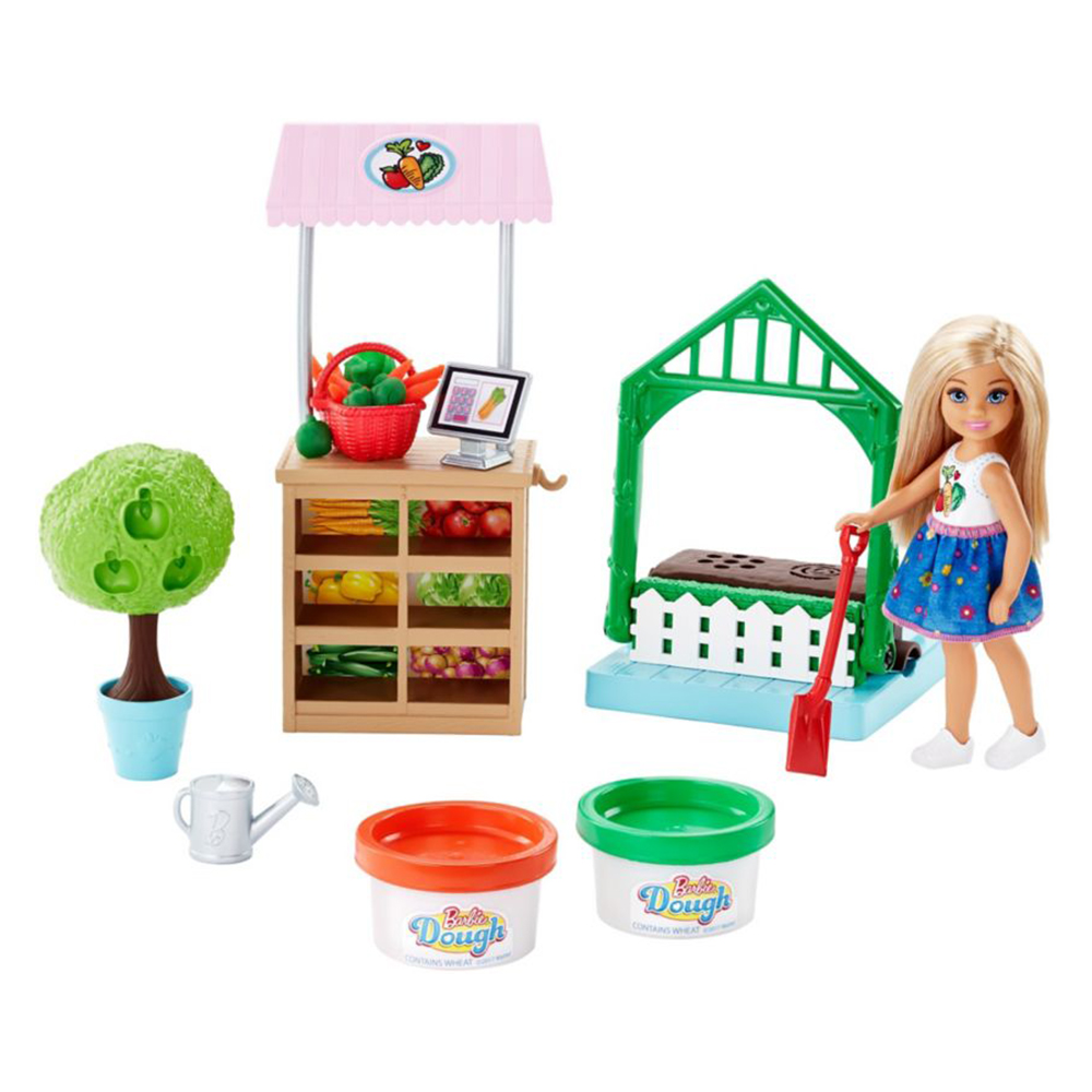 Picture of Barbie Garden Dough Playset with Chelsea Doll