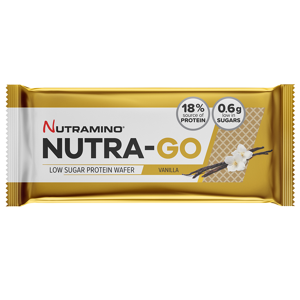 Picture of Nutramino Nutra-Go Protein Wafers: Vanilla (Case of 12 Packs)