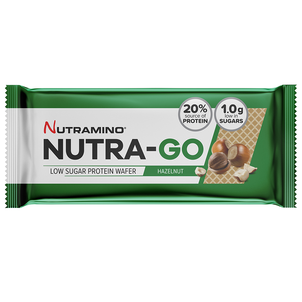 Picture of Nutramino Nutra-Go Protein Wafers: Hazelnut (Case of 12 Packs)