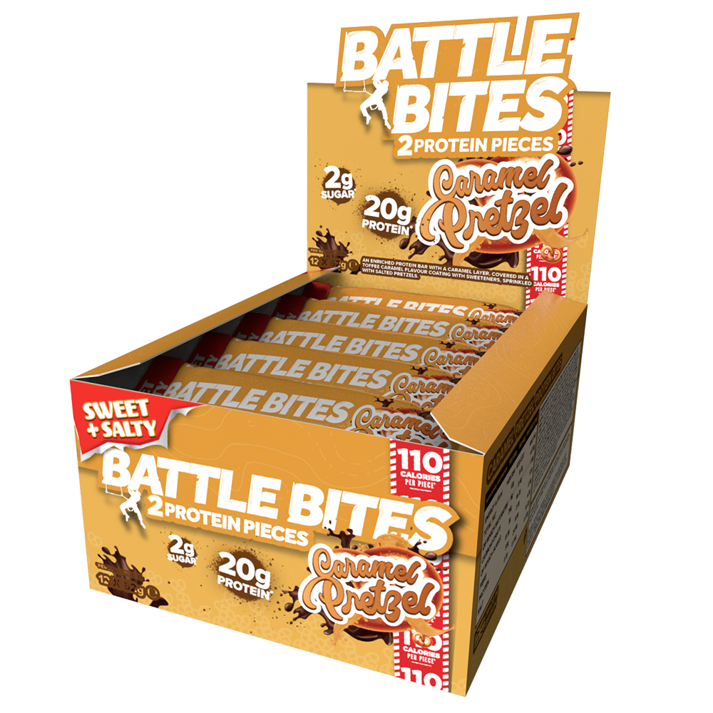 Picture of Battle Bites: Caramel Pretzel Flavour (Case of 12 Packs)