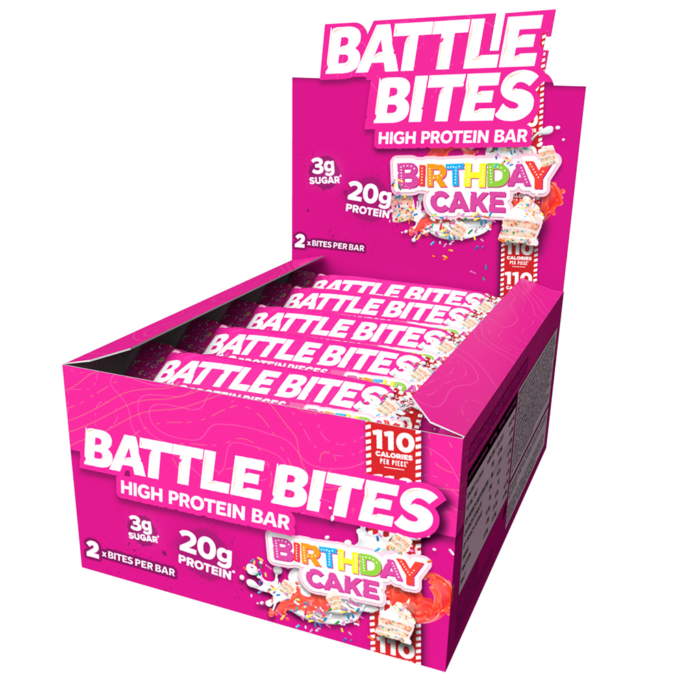 Picture of Battle Bites: Birthday Cake Flavour (Case of 12 Packs)