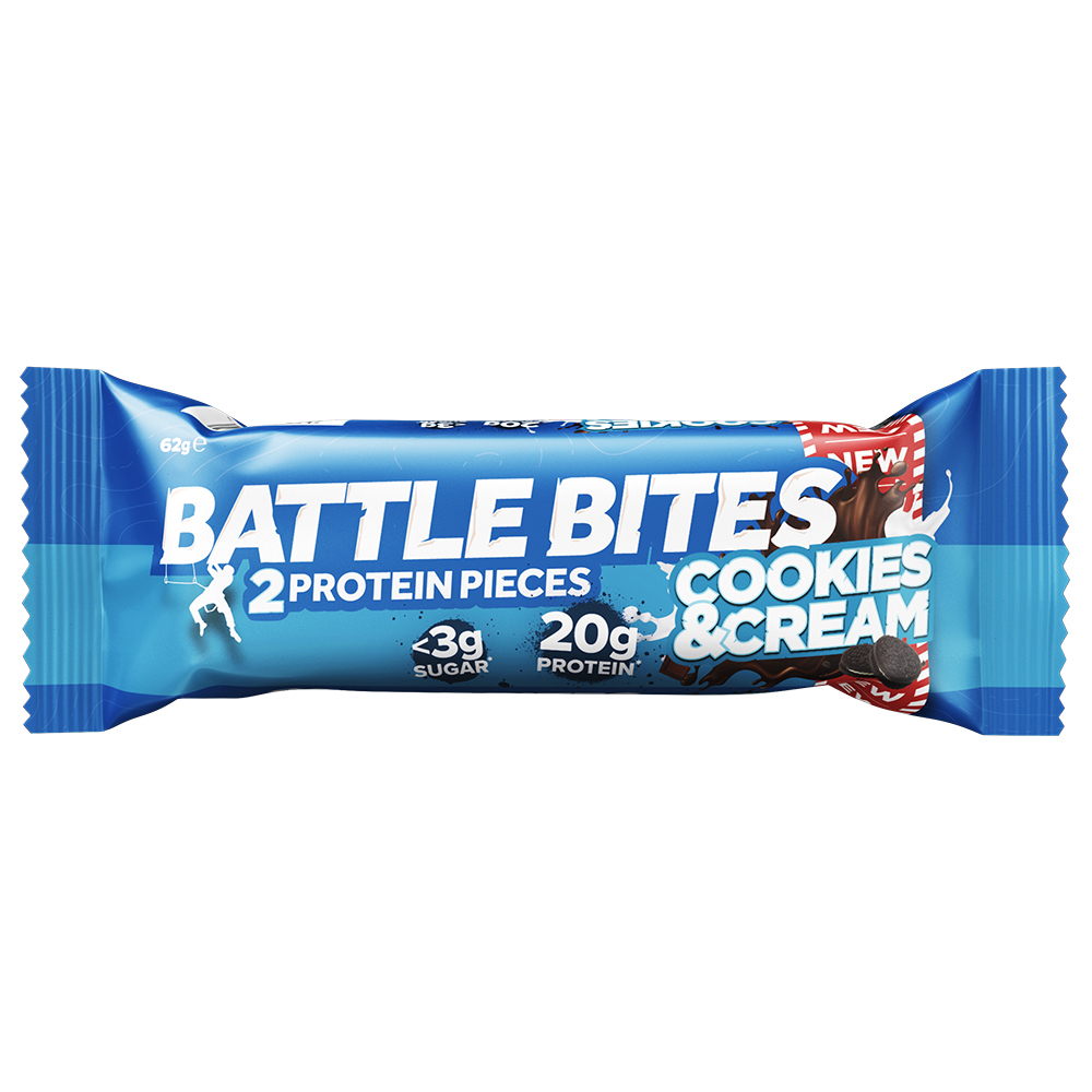 Picture of Battle Bites: Cookies & Cream Flavour (Case of 12 Packs)
