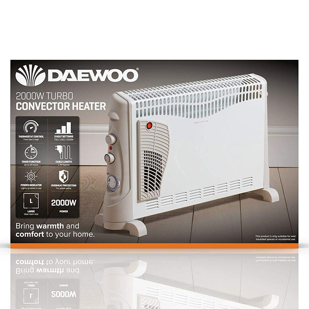 Picture of Daewoo 2000W Turbo Convector Heater