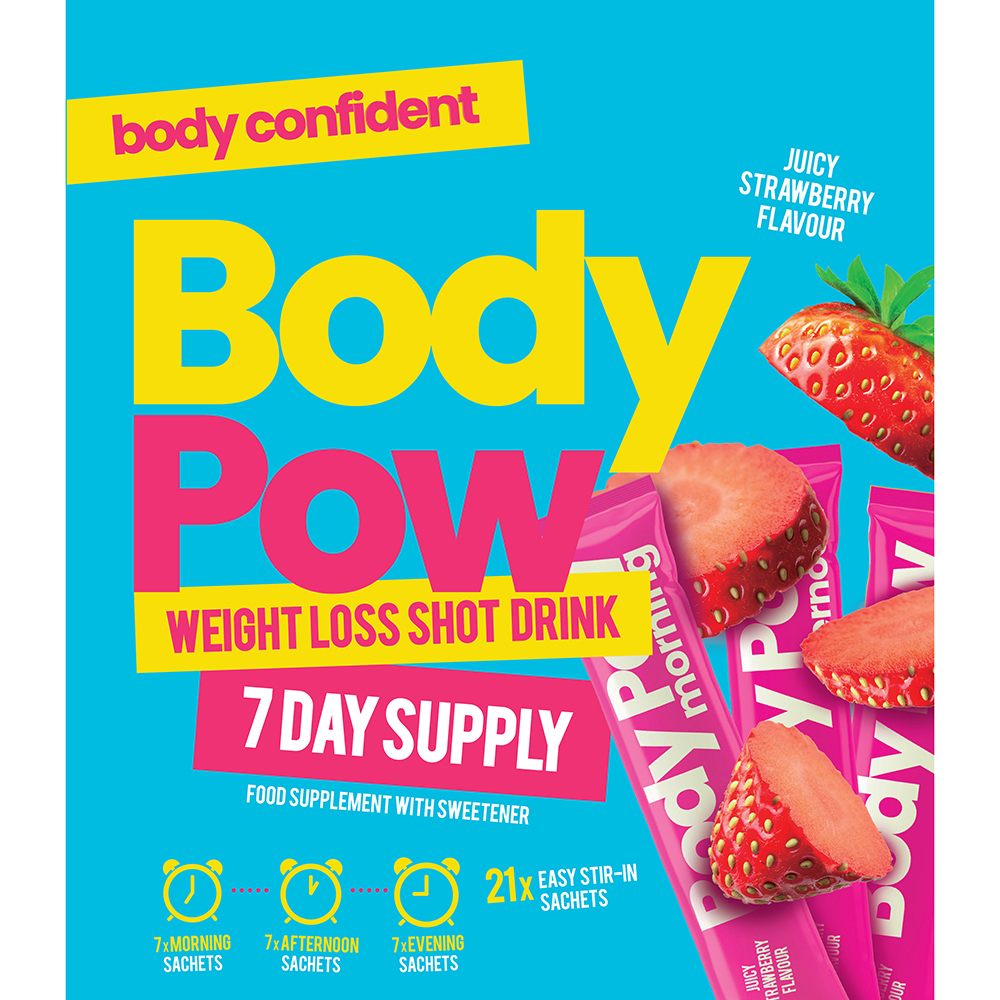 Picture of Body Pow Weight Loss Shot Drink 7 Day Supply: Juicy Strawberry Flavour