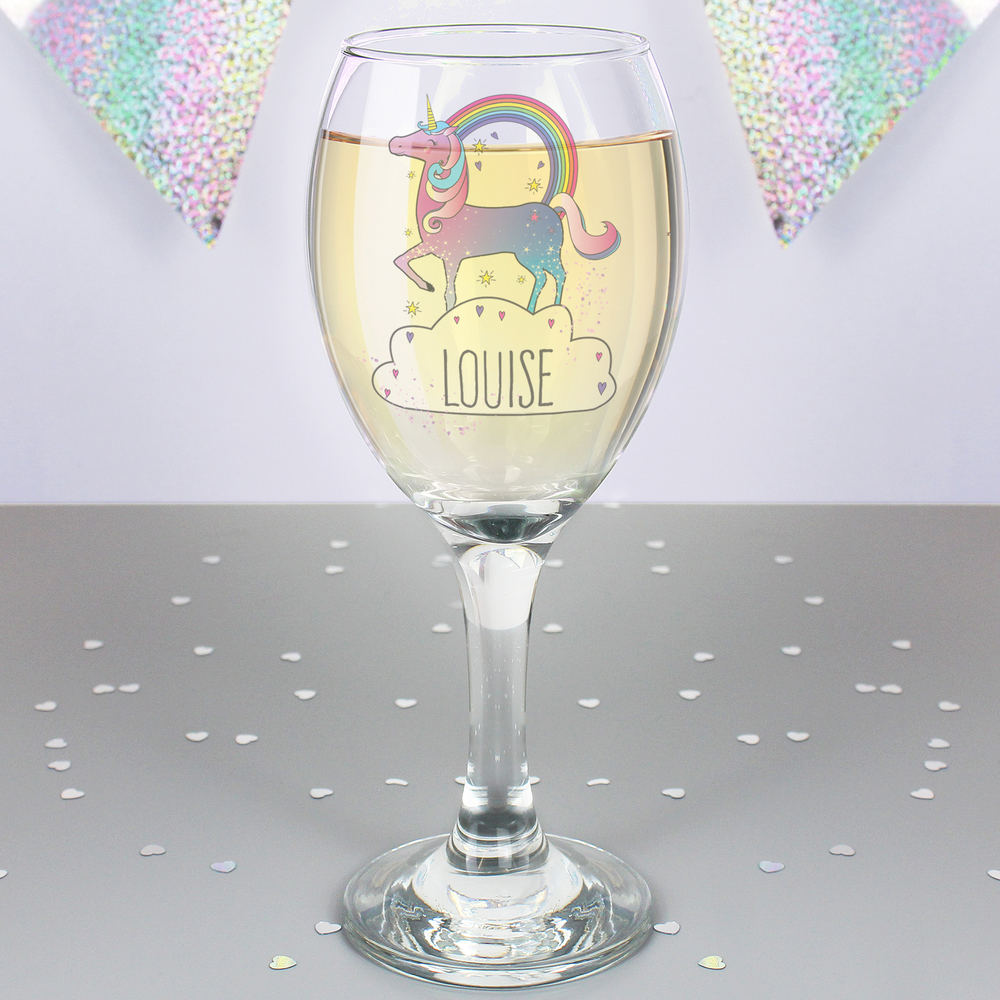 Picture of Personalised Unicorn Wine Glass