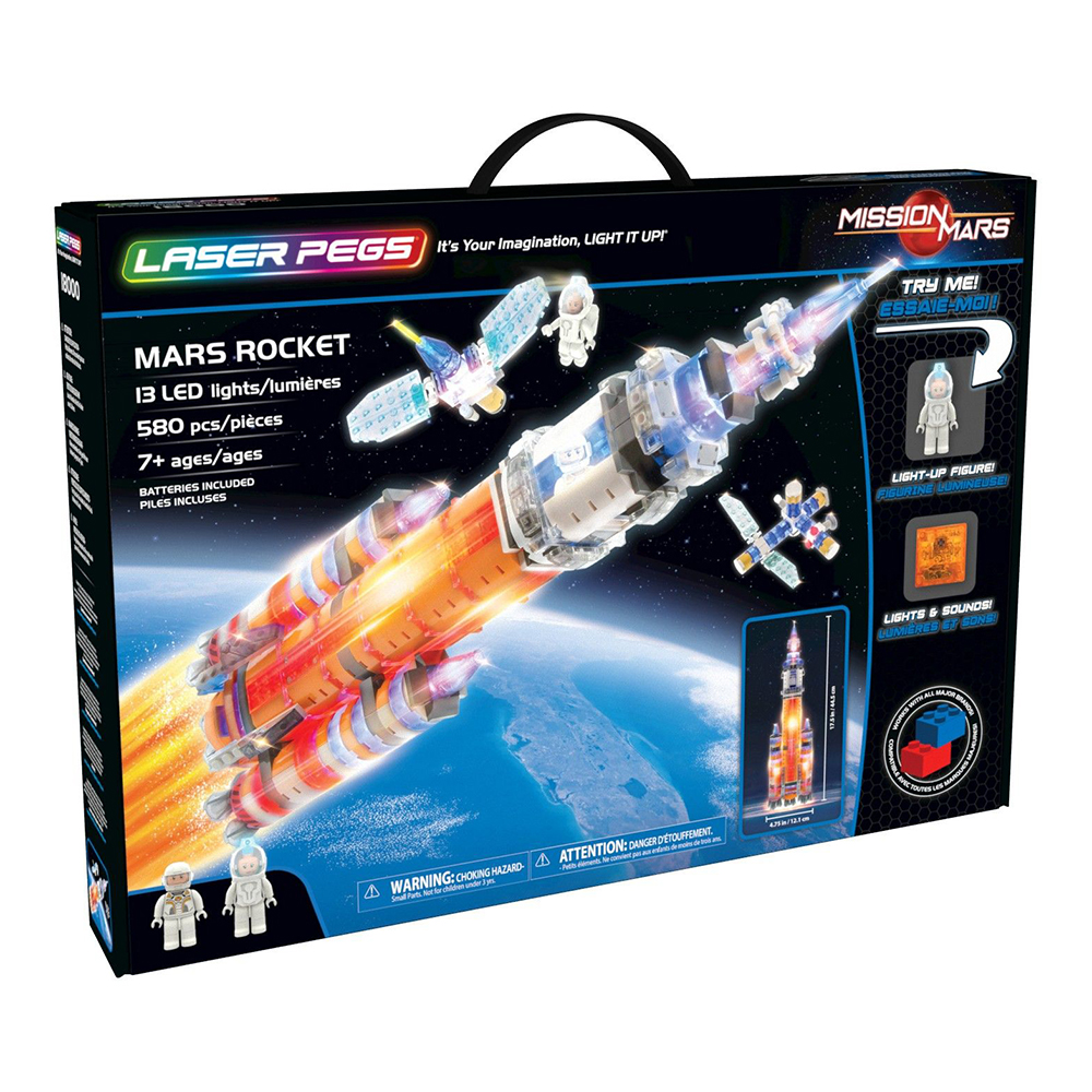 Picture of Laser Pegs: Mars Rocket