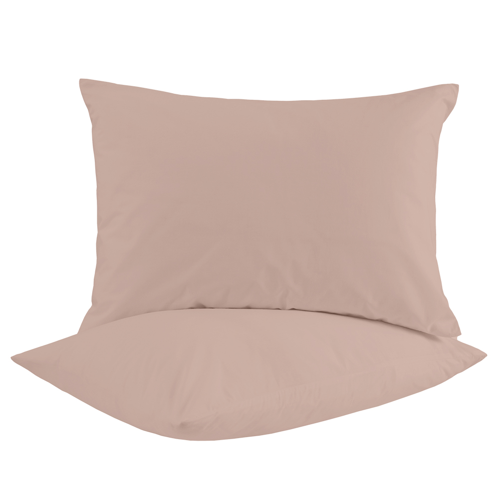 Picture of Ports of Call Jeff Banks: Pillowcase Pair (Blush Pink)