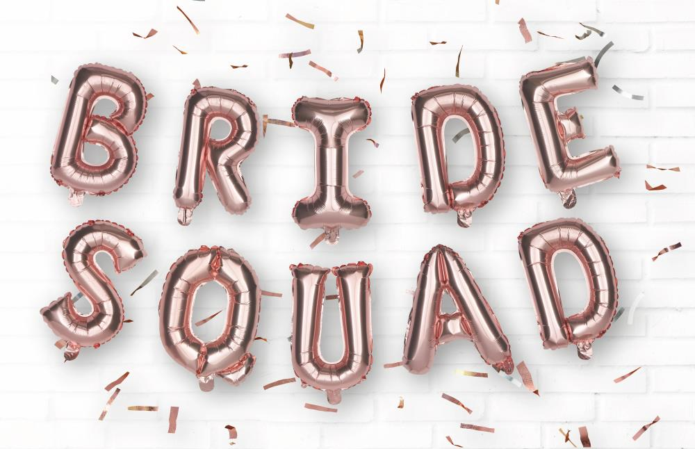 Picture of Bride Squad Giant Foil Balloon Bunting