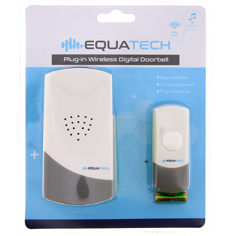 Picture of Equatech Plug-in Wireless Digital Doorbell