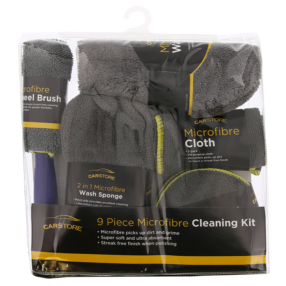 Picture of Carstore 9 Piece Microfibre Cleaning Kit